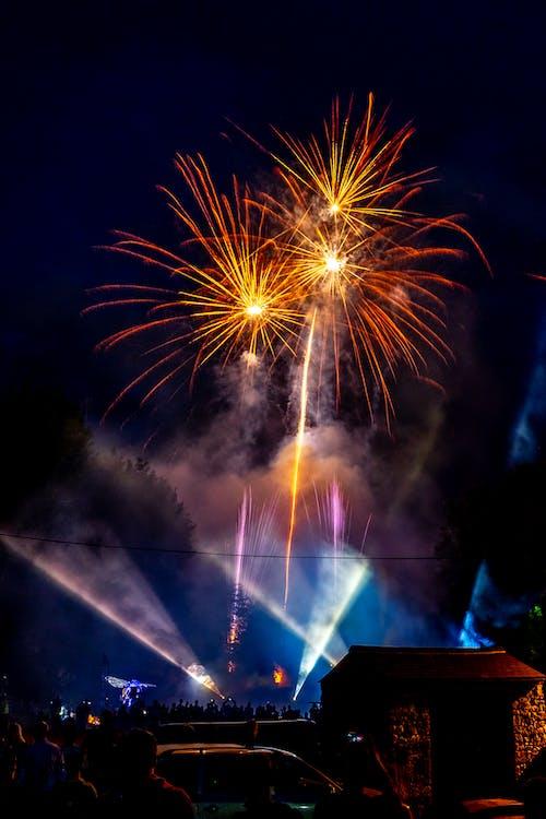 Fotobanka sbezplatnými fotkami na tému festival, noc, nový rok, ohňostroje