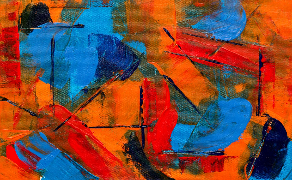 abstraktní expresionismus, abstraktní obraz, akryl