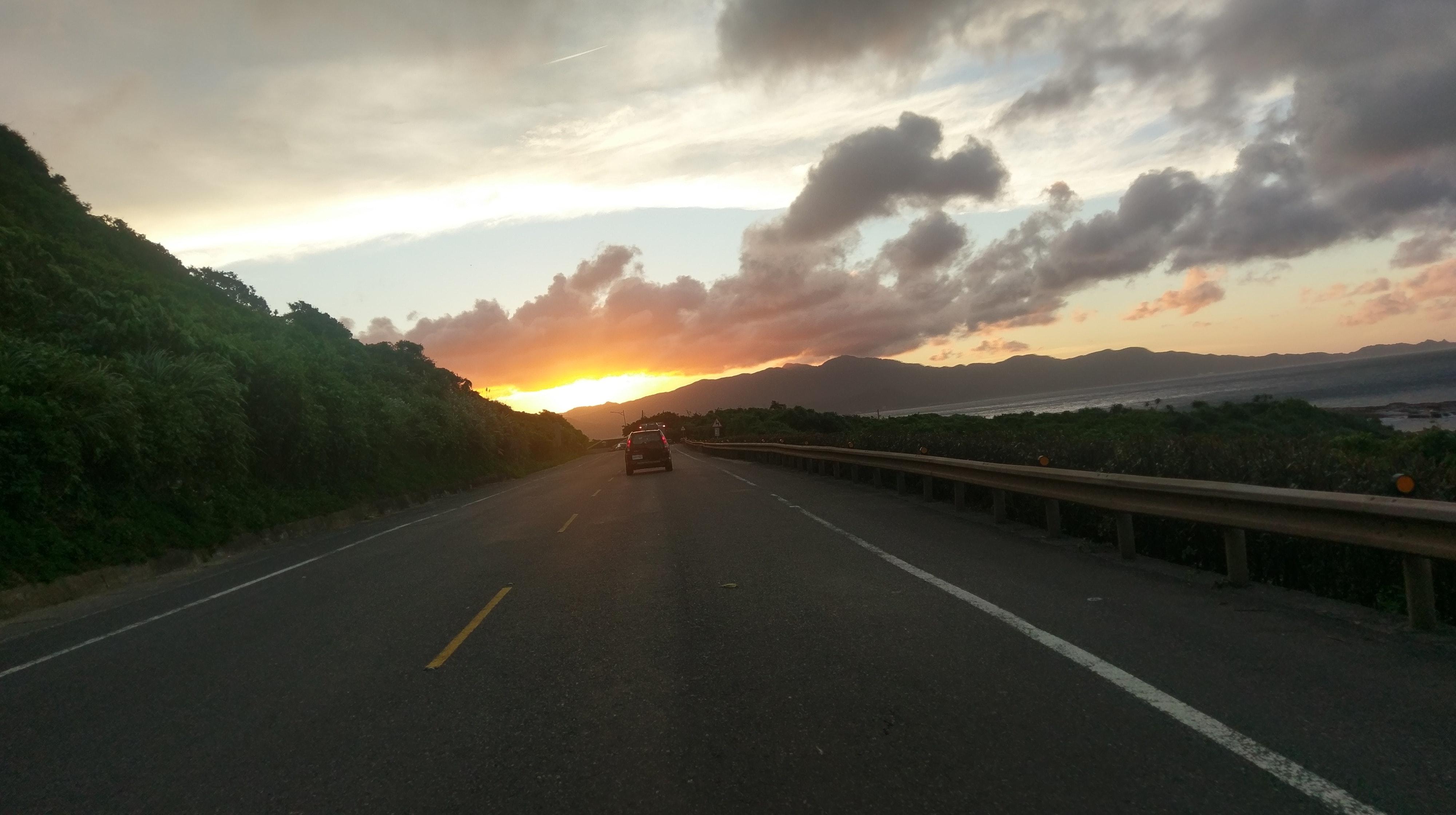 Free stock photo of golden sunset, road trip, Taipei