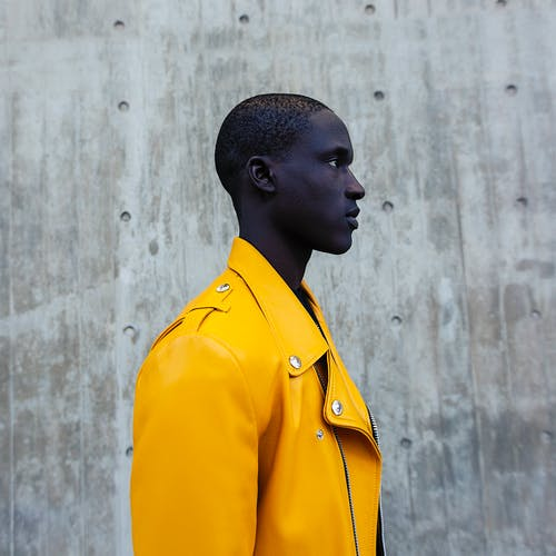 Man Wearing Yellow Jacket