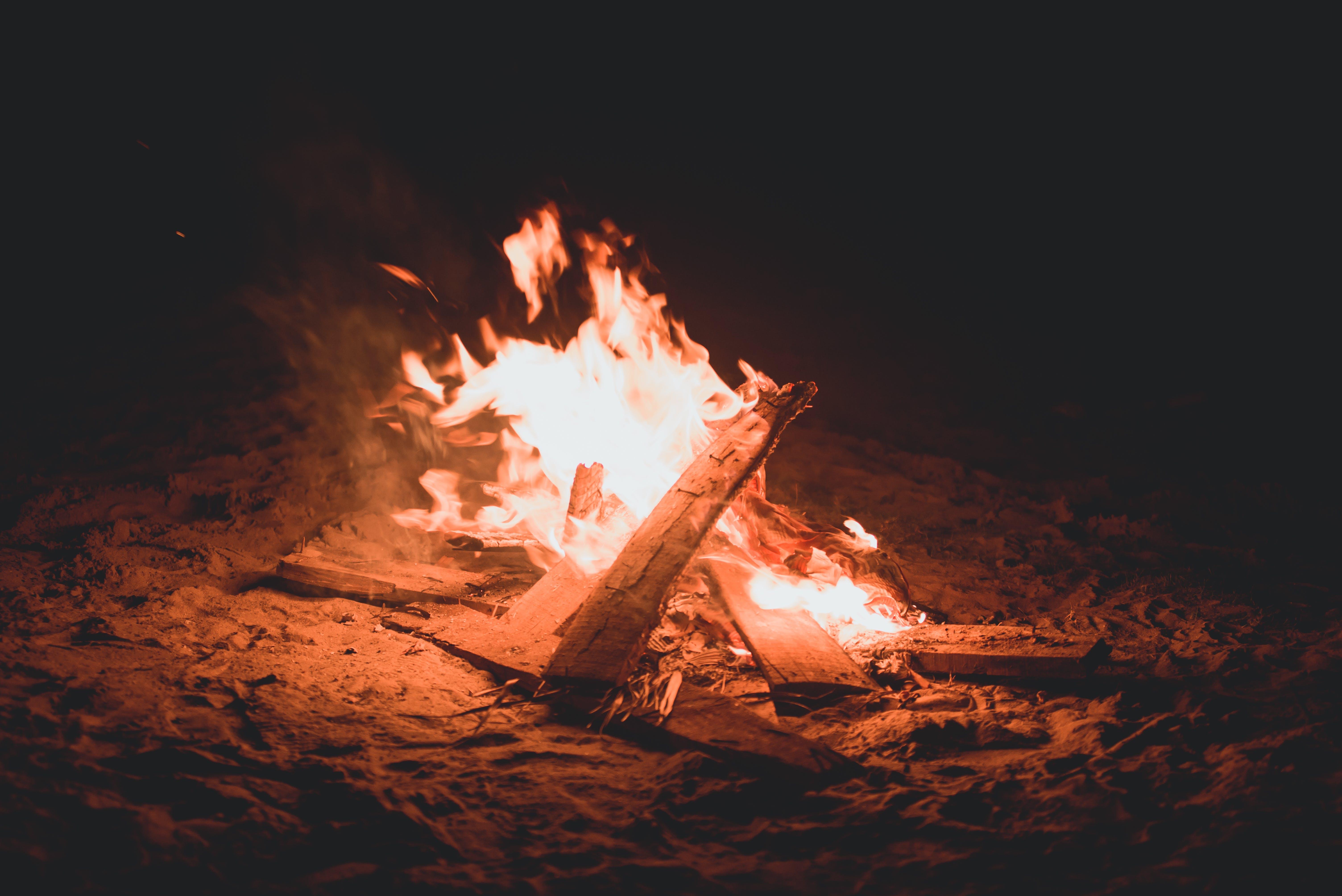 Closeup Photo of Bonfire