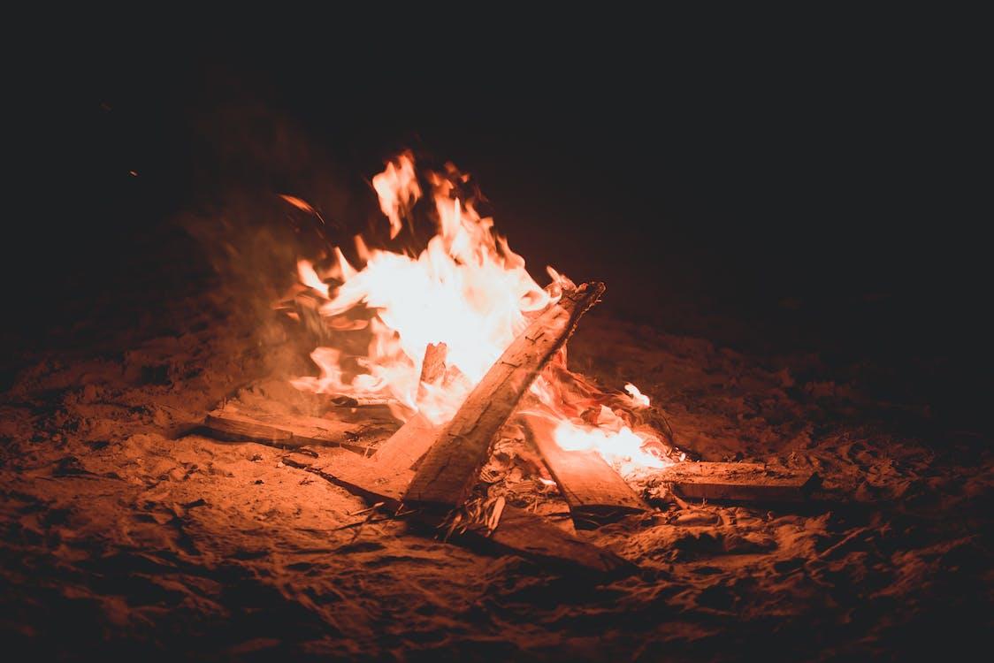 bonfire, brand, brandend