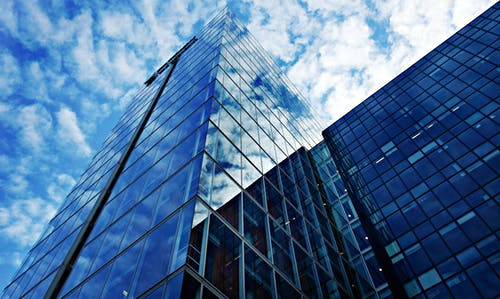 Free stock photo of architecture, blue, clouds, glass