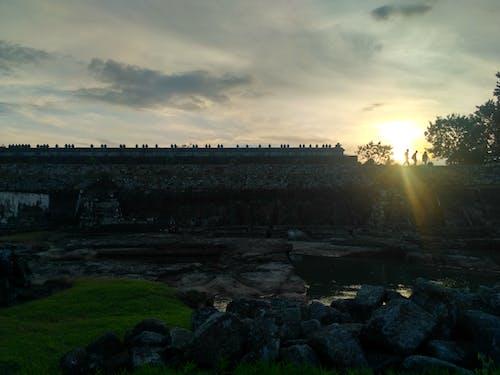 Photos gratuites de aventure, coucher de soleil, indonésie, temple