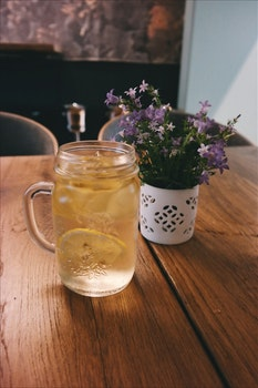 Free stock photo of wood, cup, mug, flowers