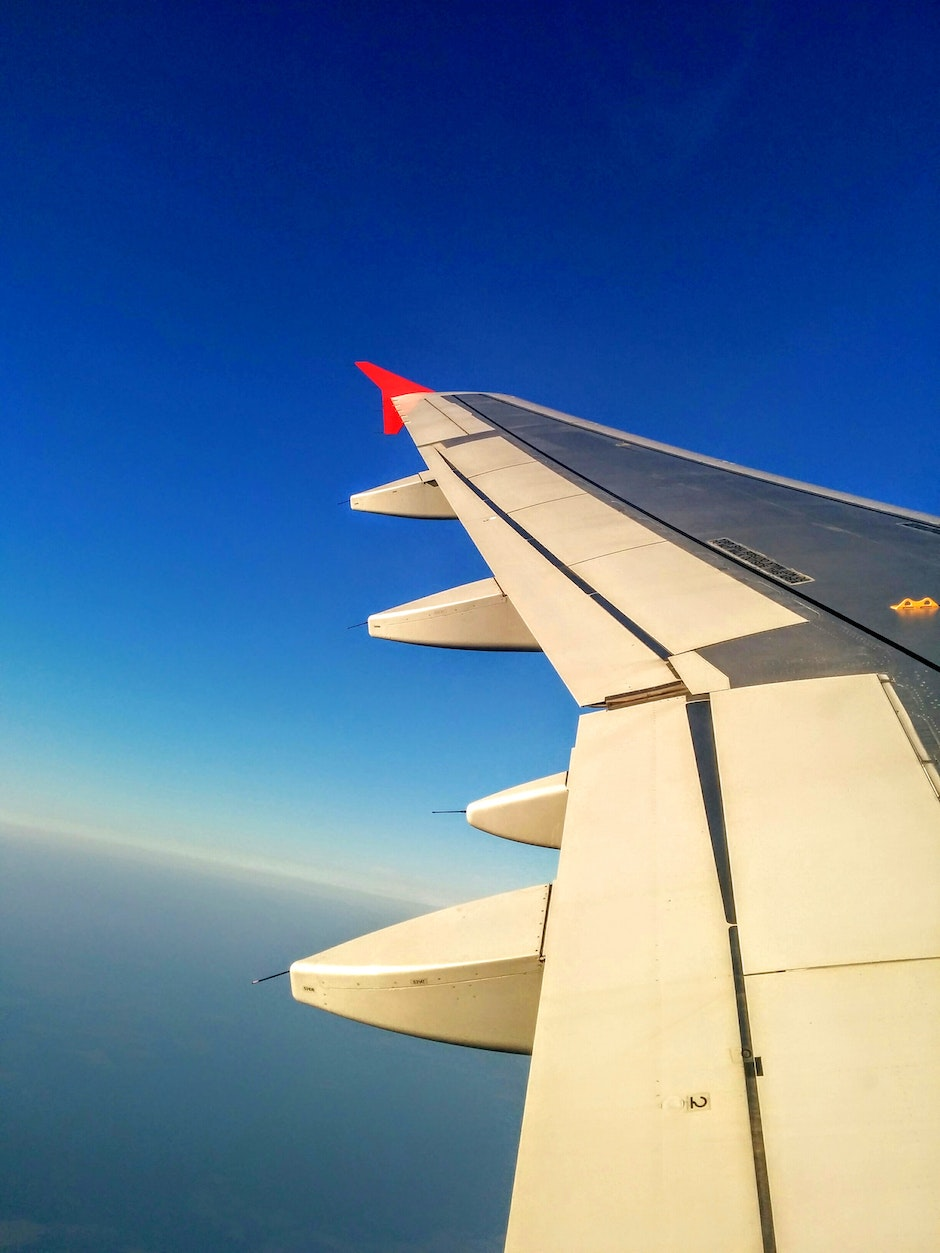 white and black left plane wing 183 free stock photo