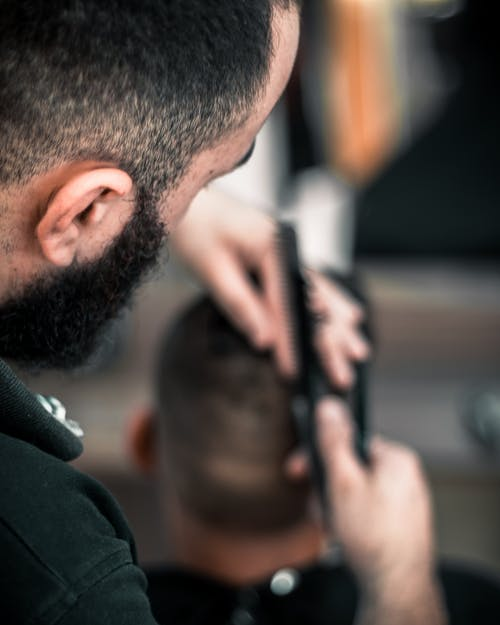 Man Cutting Hair