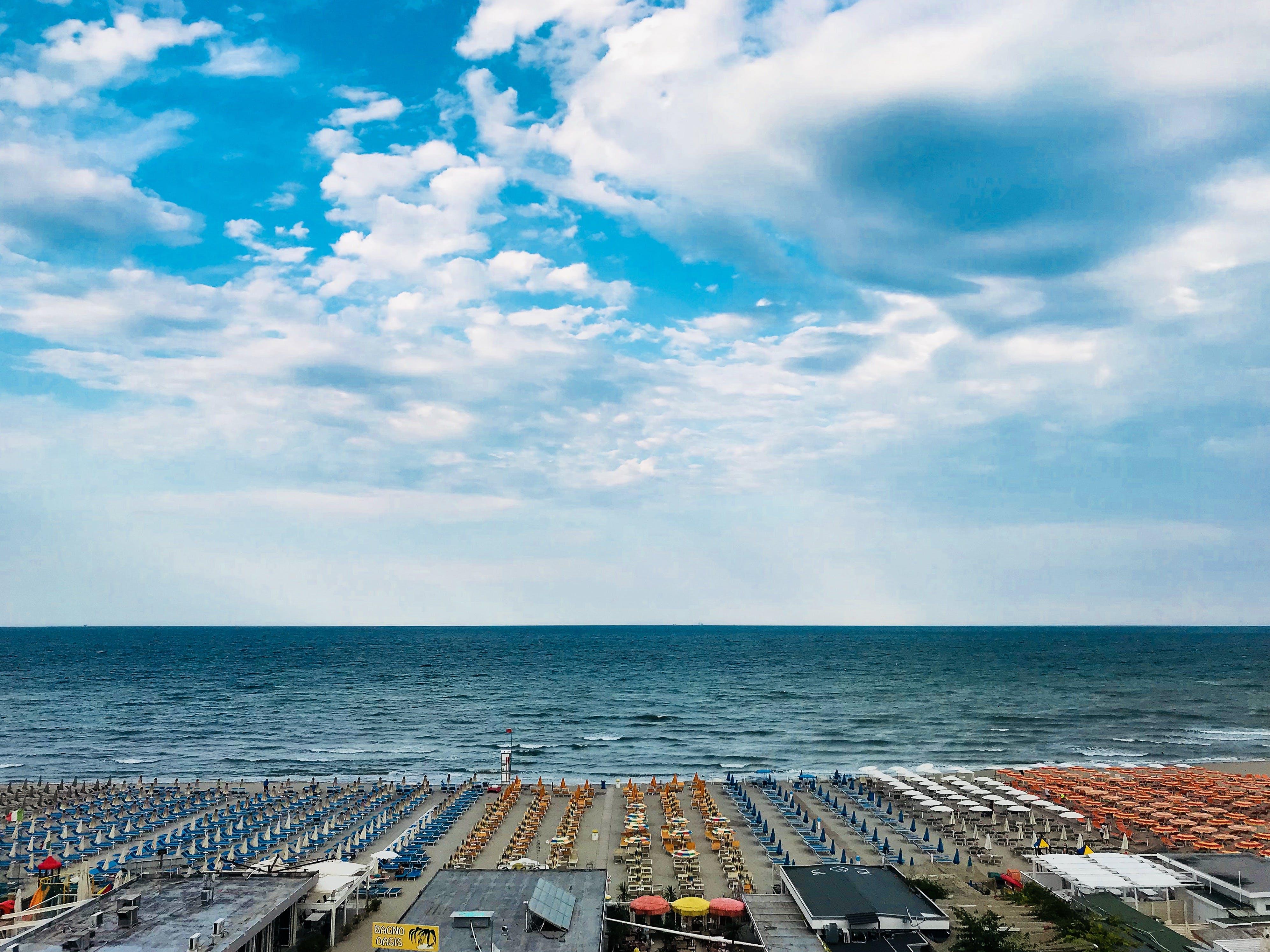 Free stock photo of adriatic sea, blue, cloud, italy