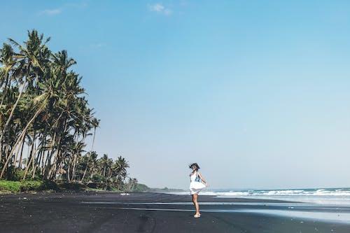 休閒, 假日, 假期, 咖啡色頭髮的女人 的 免費圖庫相片
