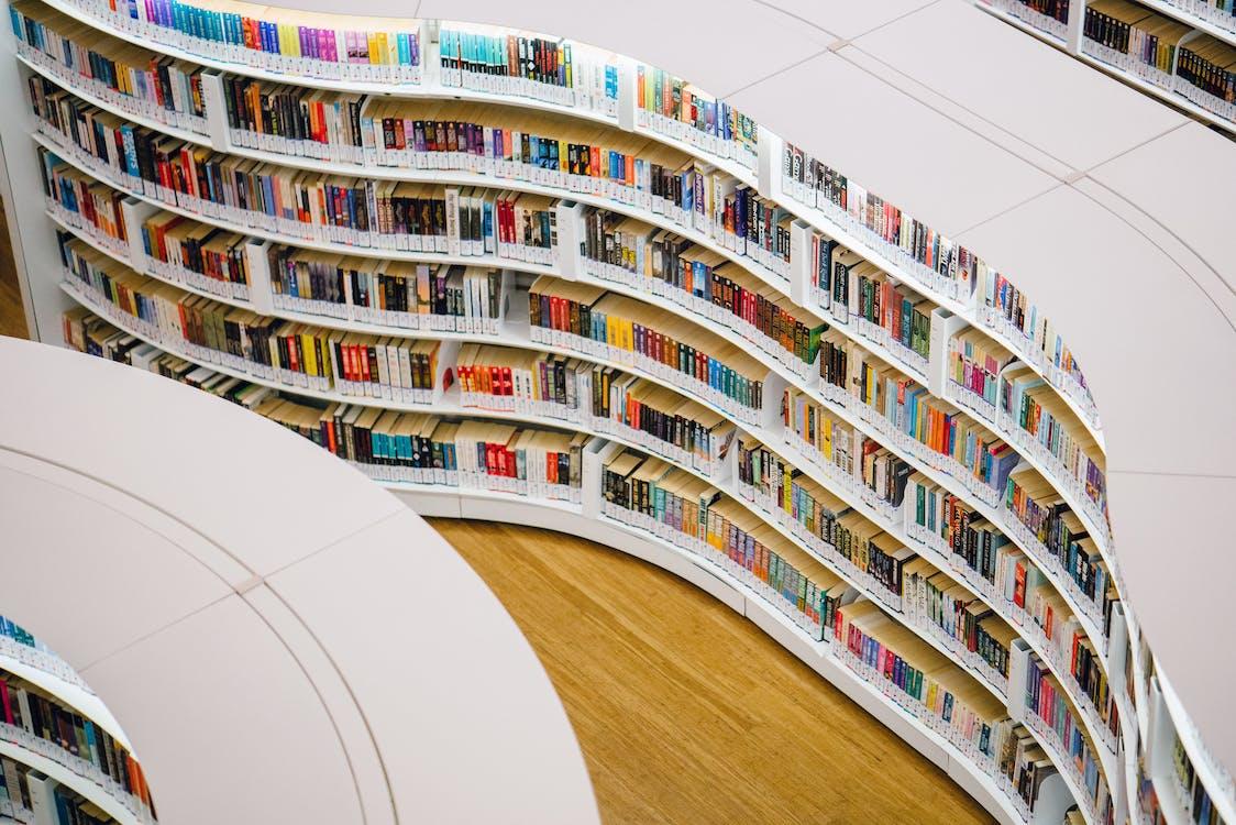 White Wooden Bookshelves