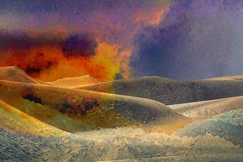 火, 砂丘の無料の写真素材