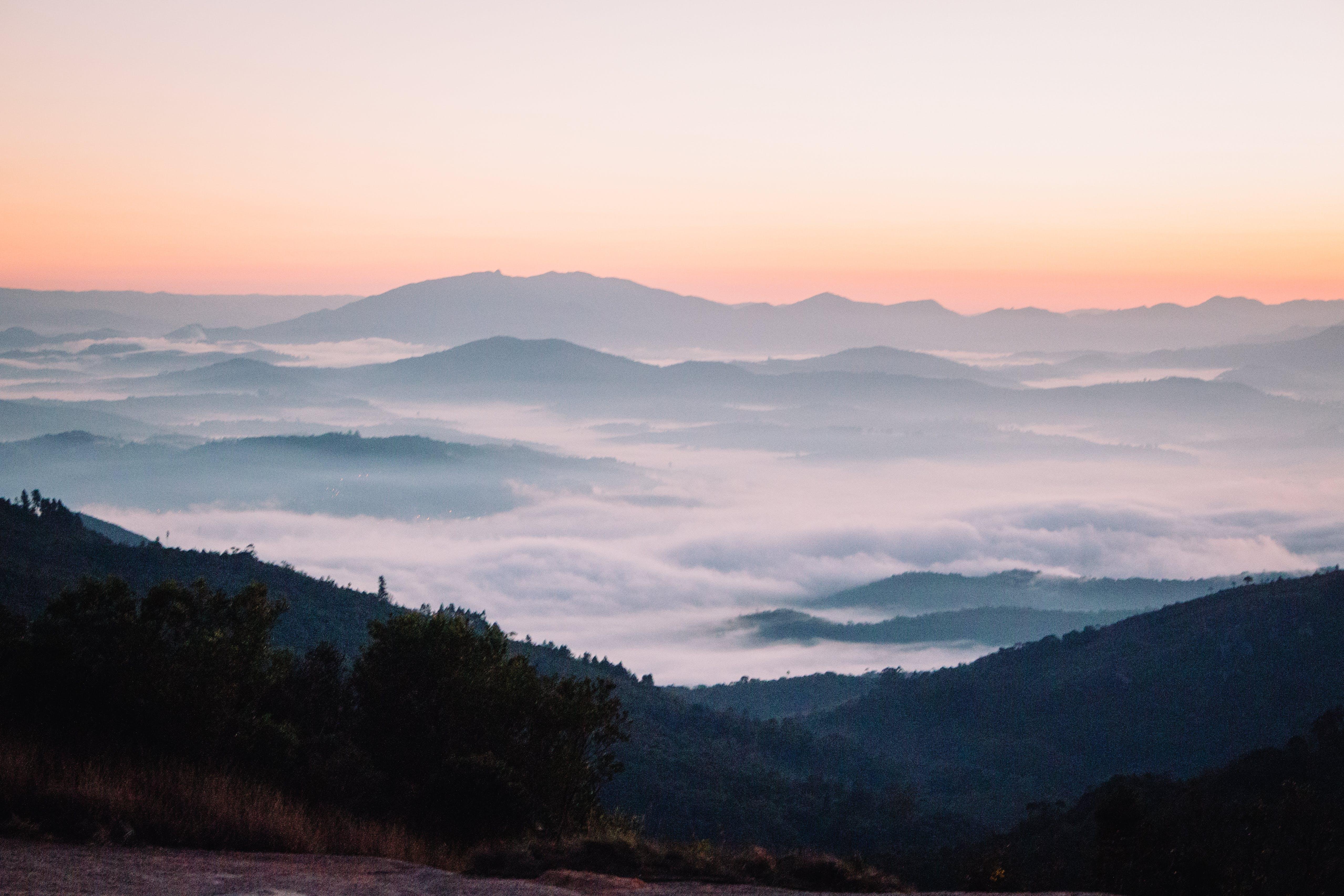 Free stock photo of blue mountains, Sun Rise