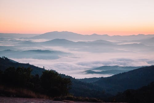 Free stock photo of blue mountains, Sun Rise