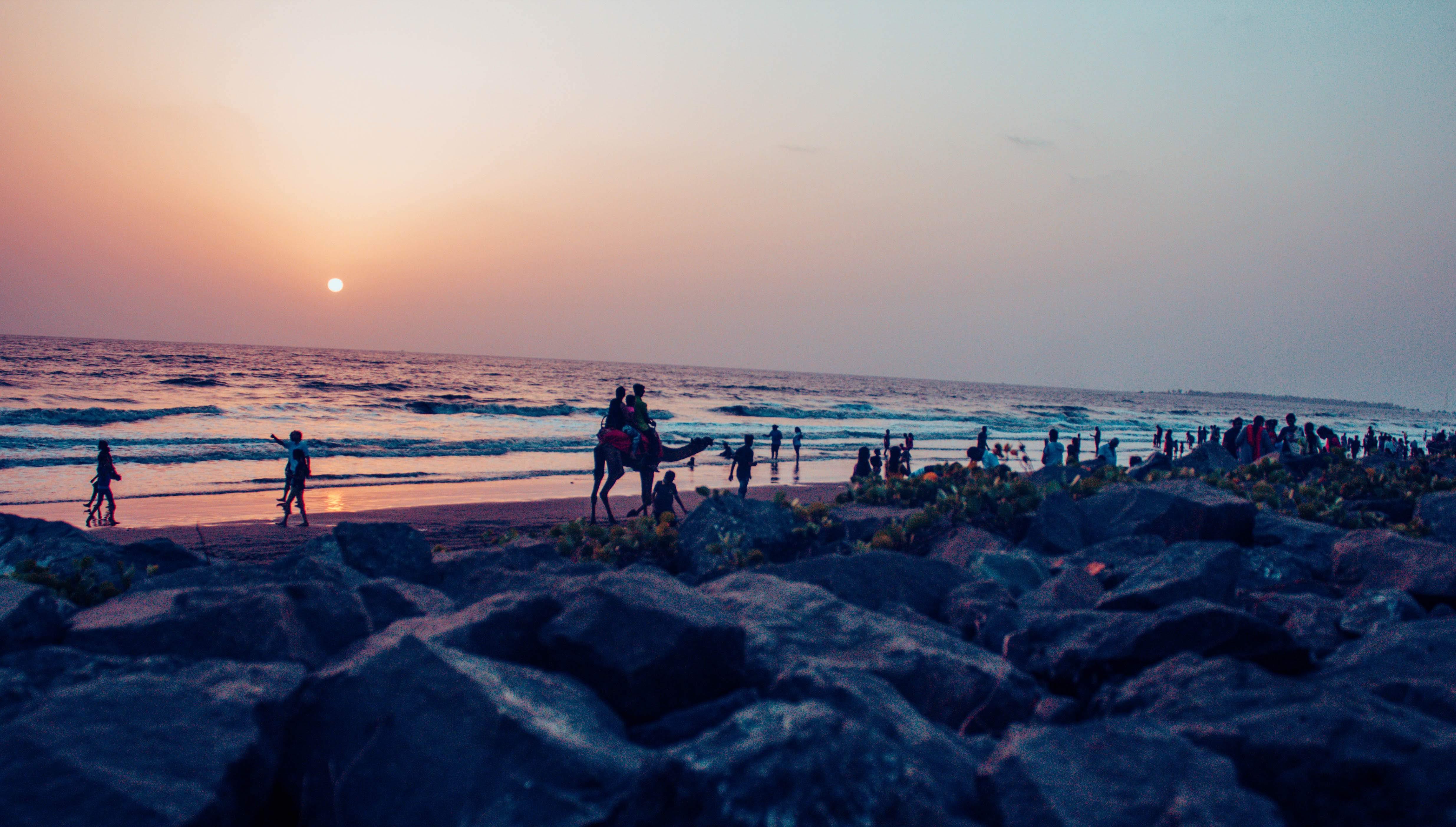 Free stock photo of beach, deep ocean, evening sky