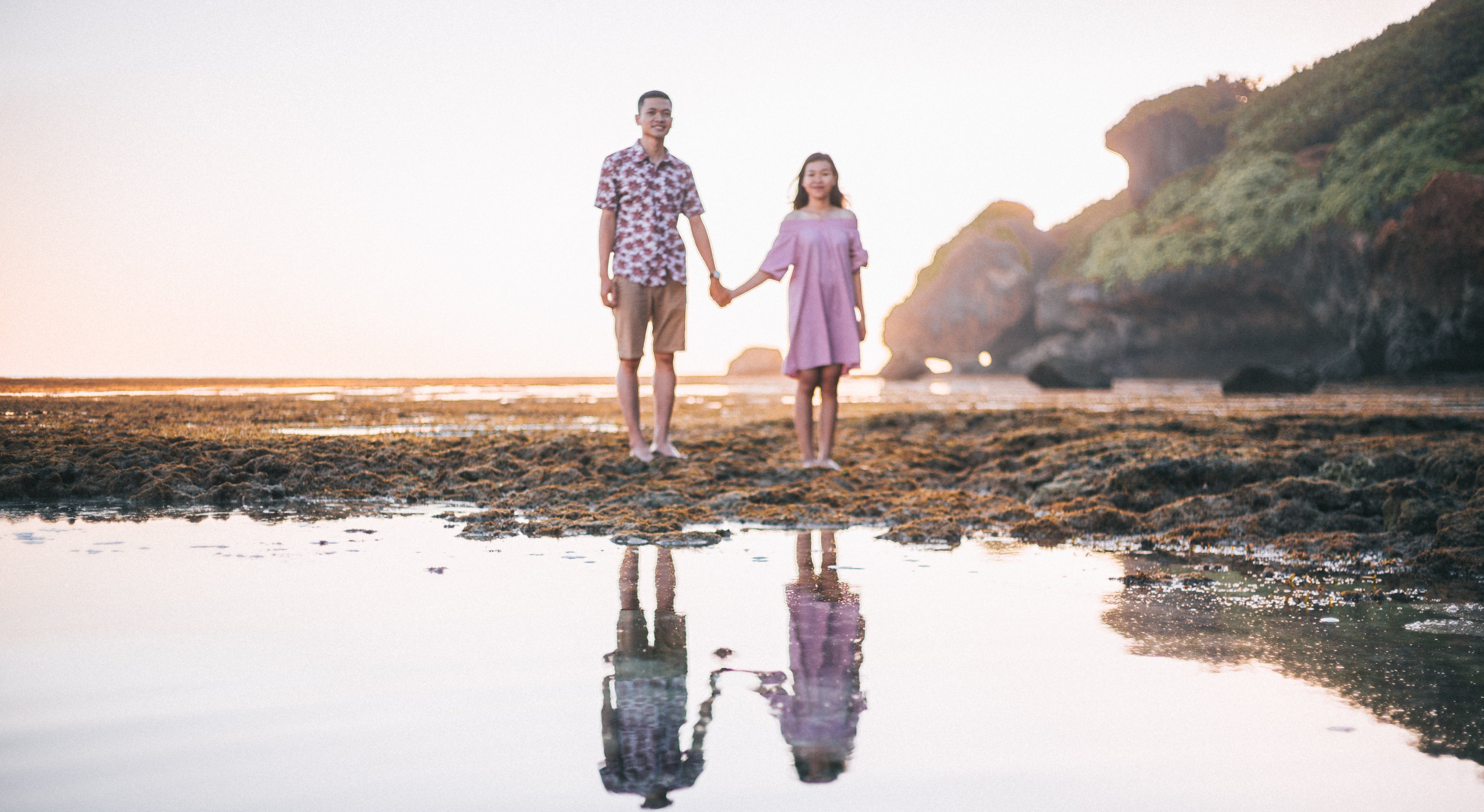 Portrait Photography of Man and Woman Holding Hands