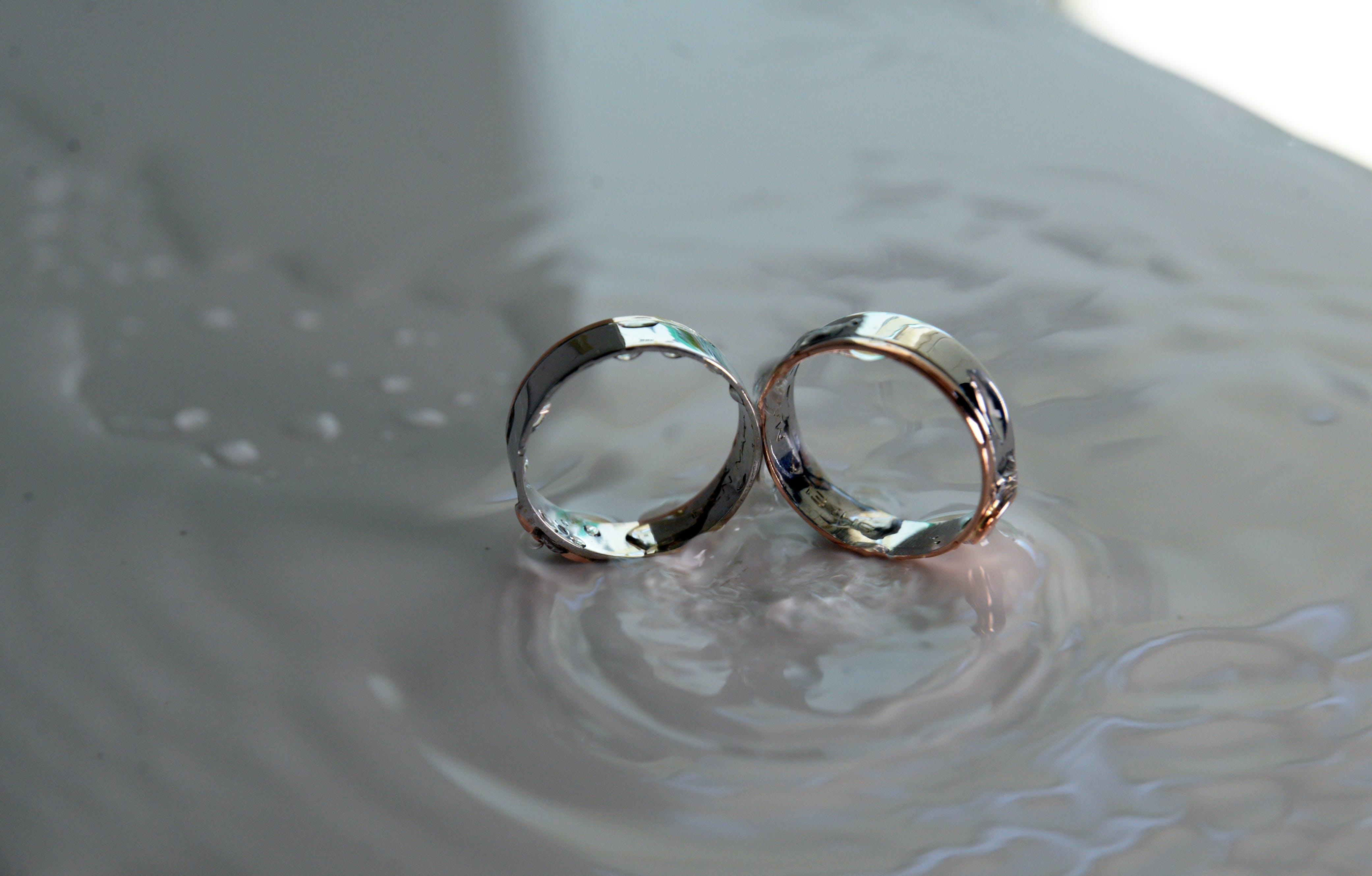 Free stock photo of couple, drops, ring, water