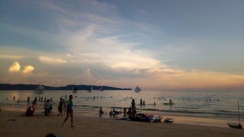 Photos gratuites de coucher de soleil, nuages, silhoutte