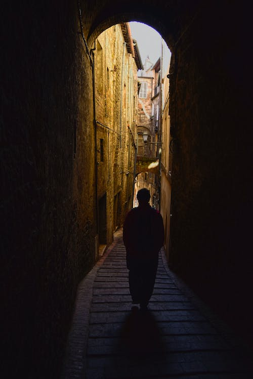 Free stock photo of adventure, downhill, downstairs, light and shadow