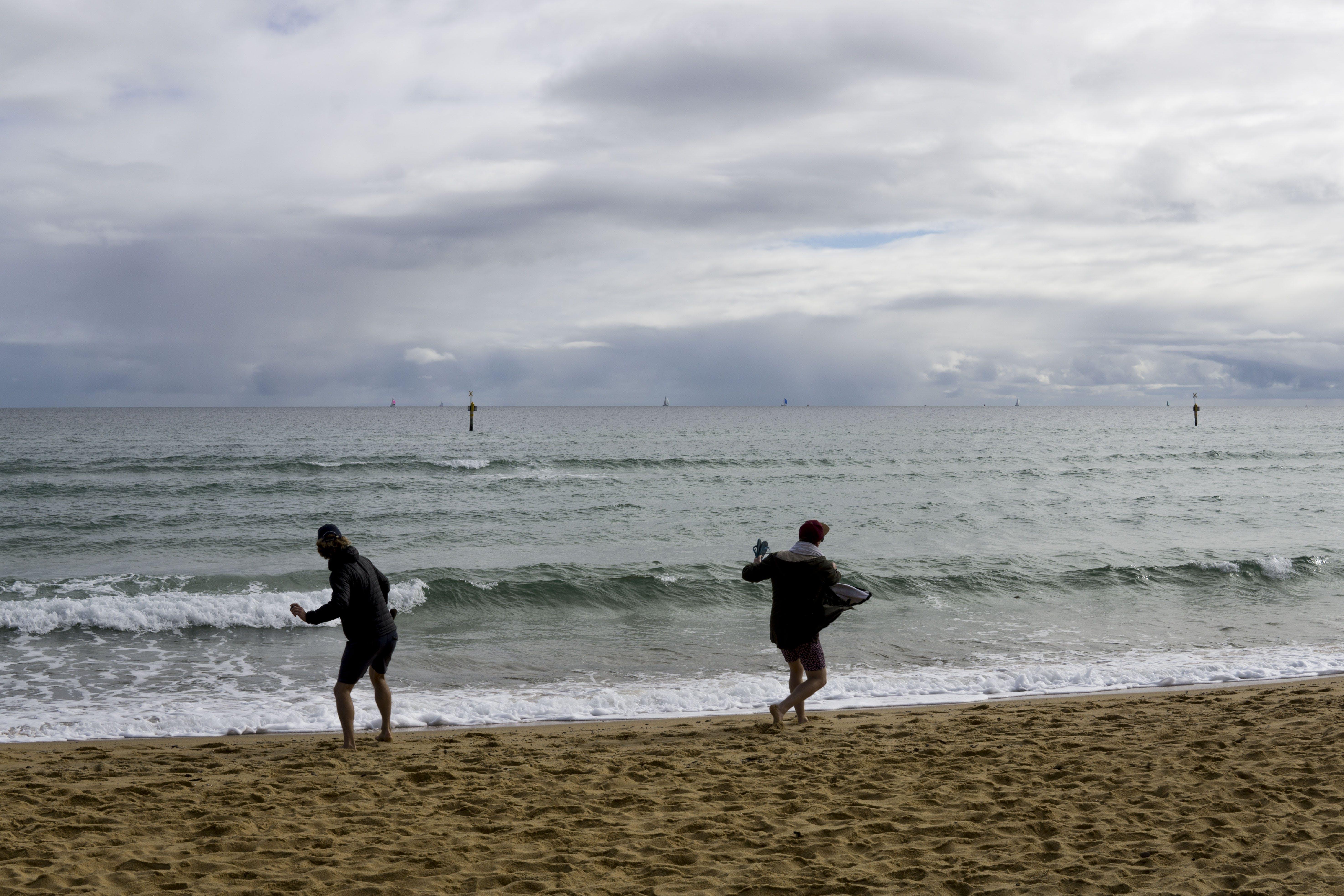 Free stock photo of beach, skipping stones, windy, winter