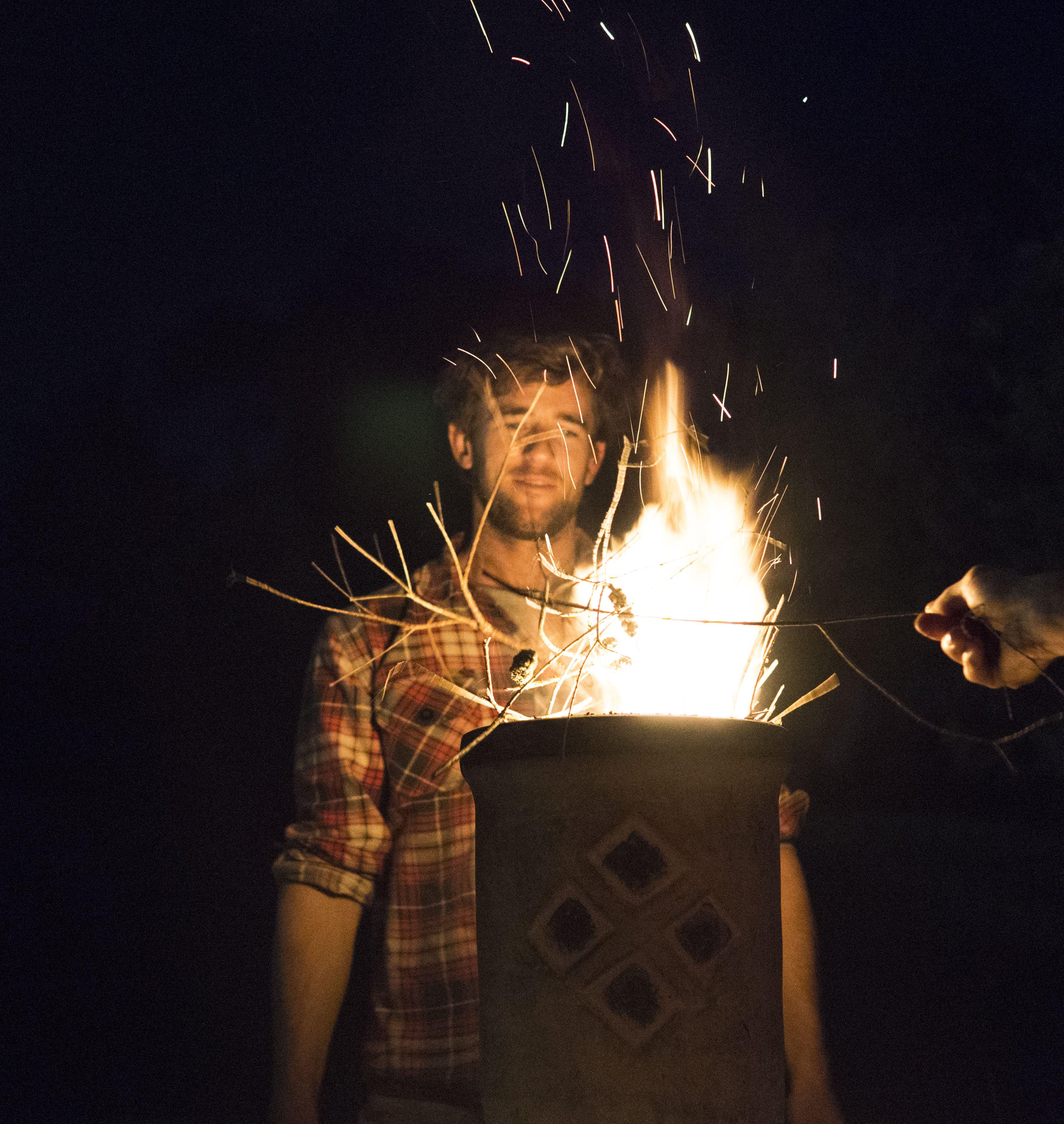 Burning Woods in the Dark