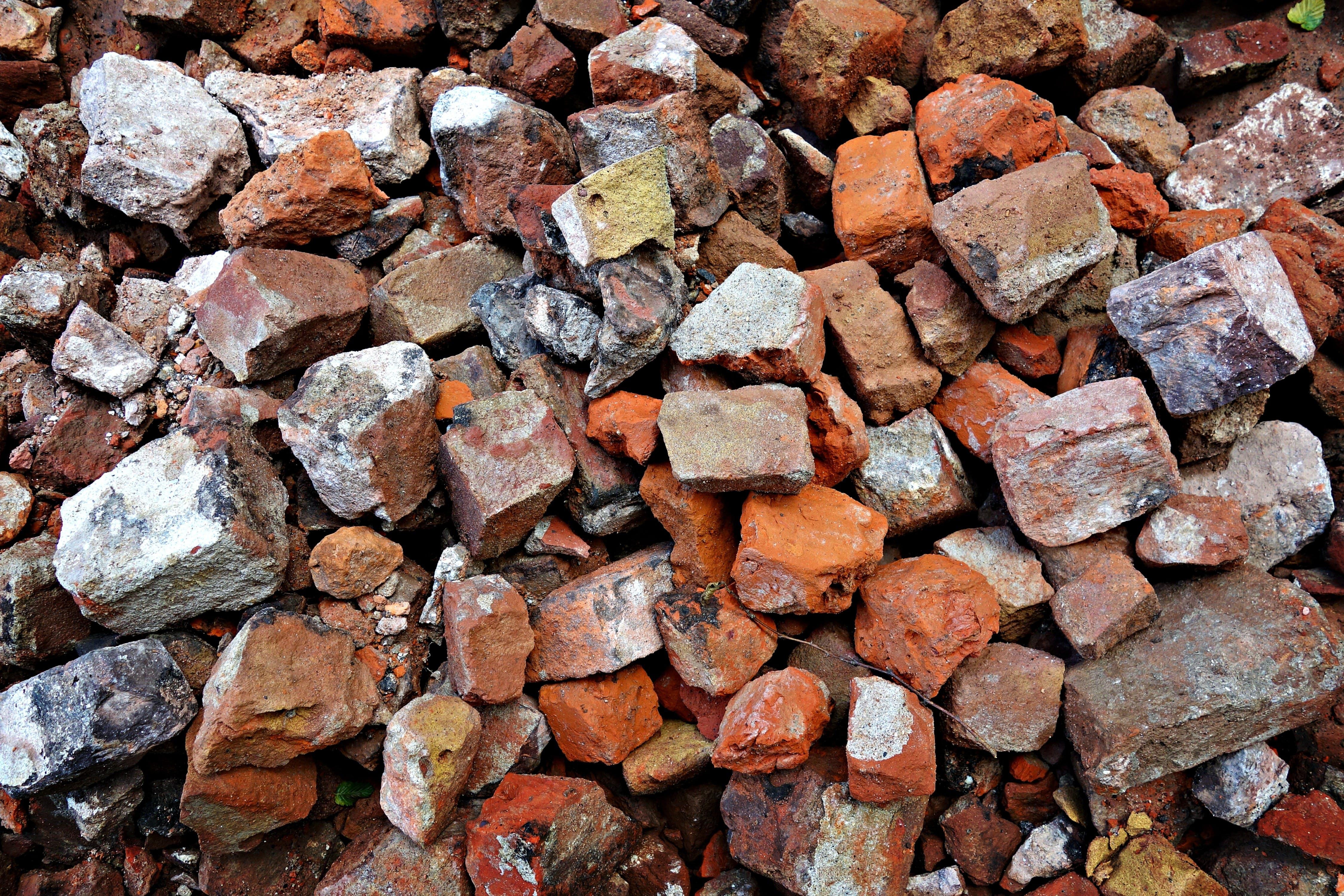 of blocks, bricks, construction work, material