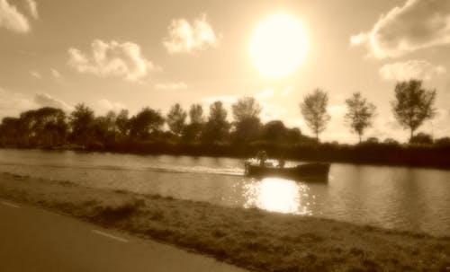 Free stock photo of amstel river, boat, Holland, landscape