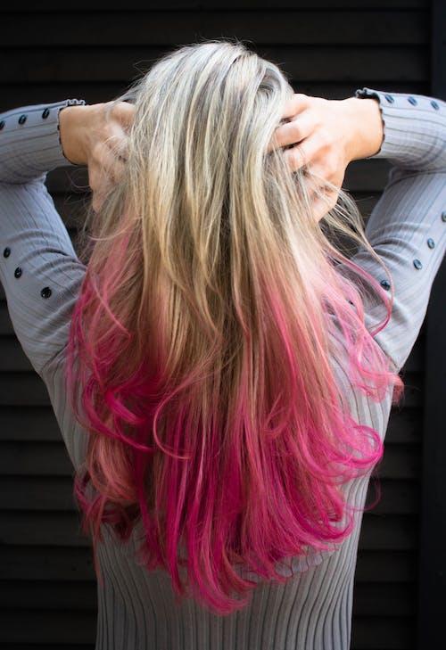 Immagine gratuita di capelli, capelli rosa, capello, colori