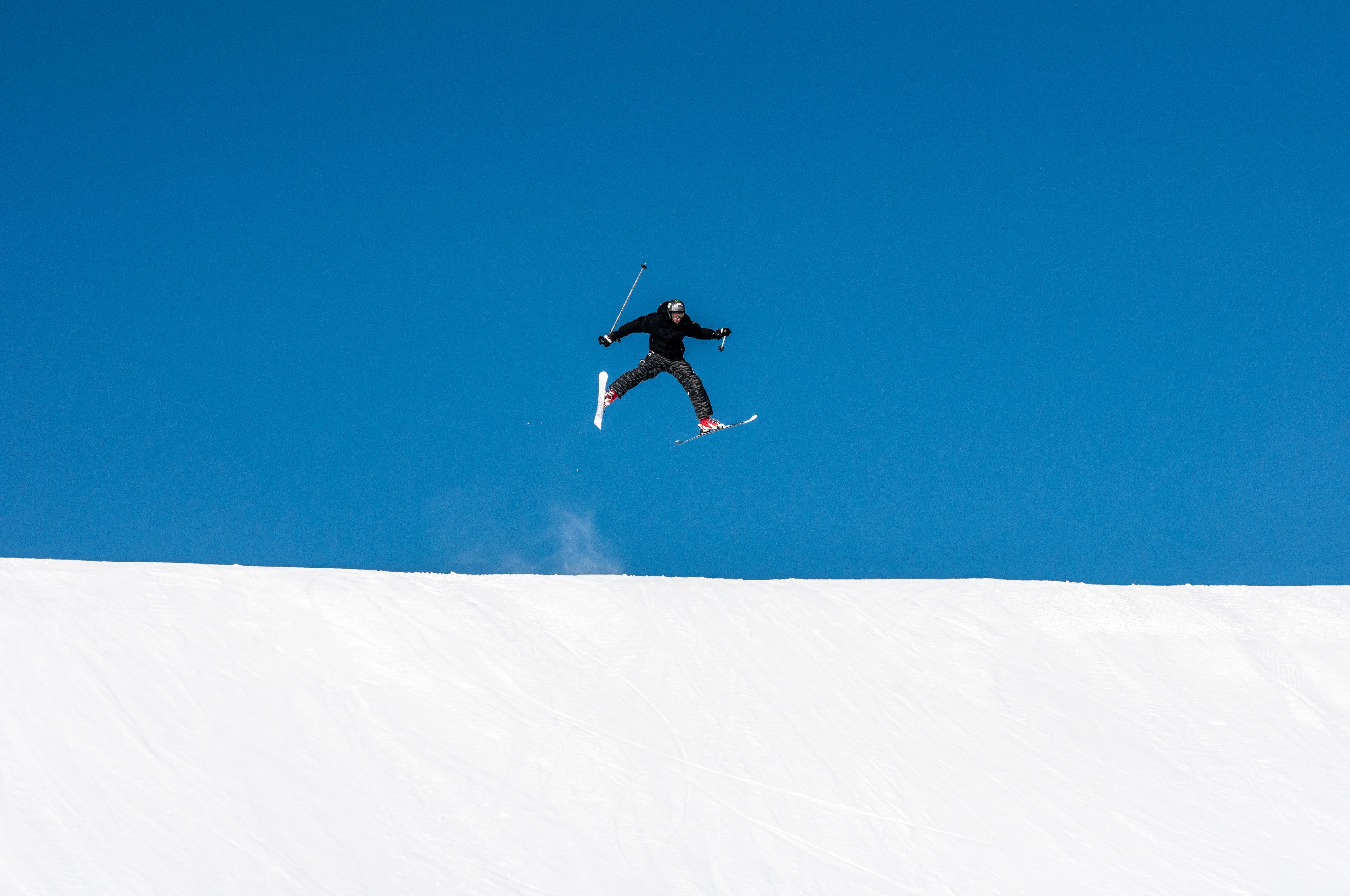 Free stock photo of jump, ski, jumpers