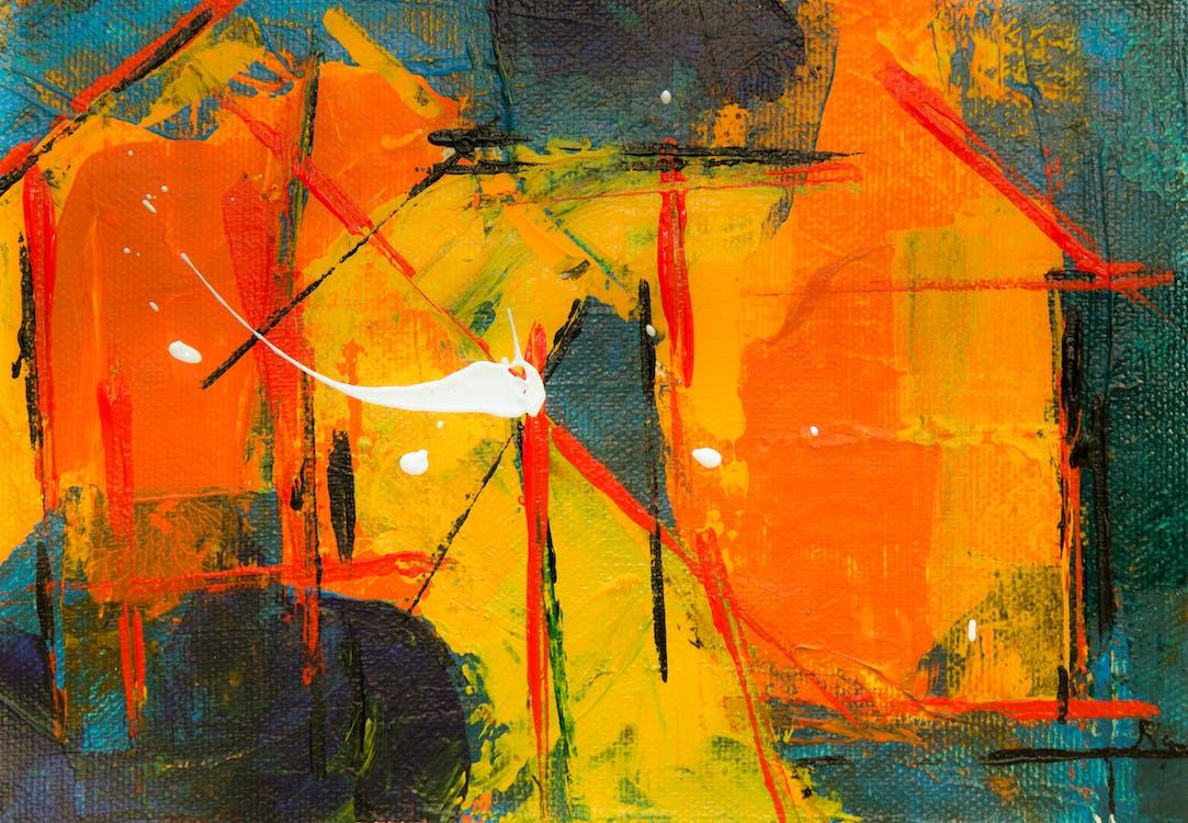 abstrakt expressionism, abstrakt målning, akryl
