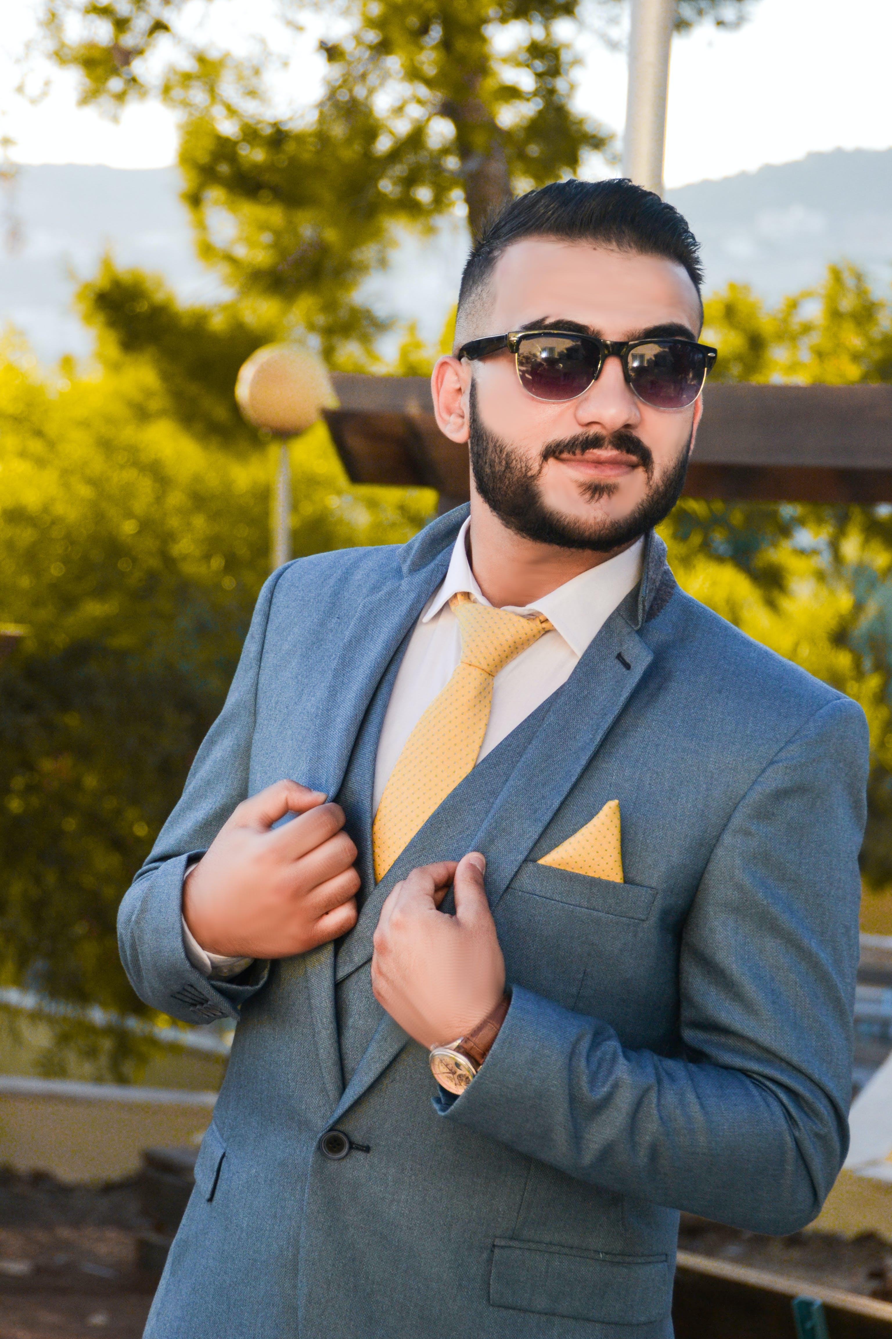 Kostenloses Stock Foto zu fashion, formalen mantel, gesichtsausdruck, gesichtsbehaarung