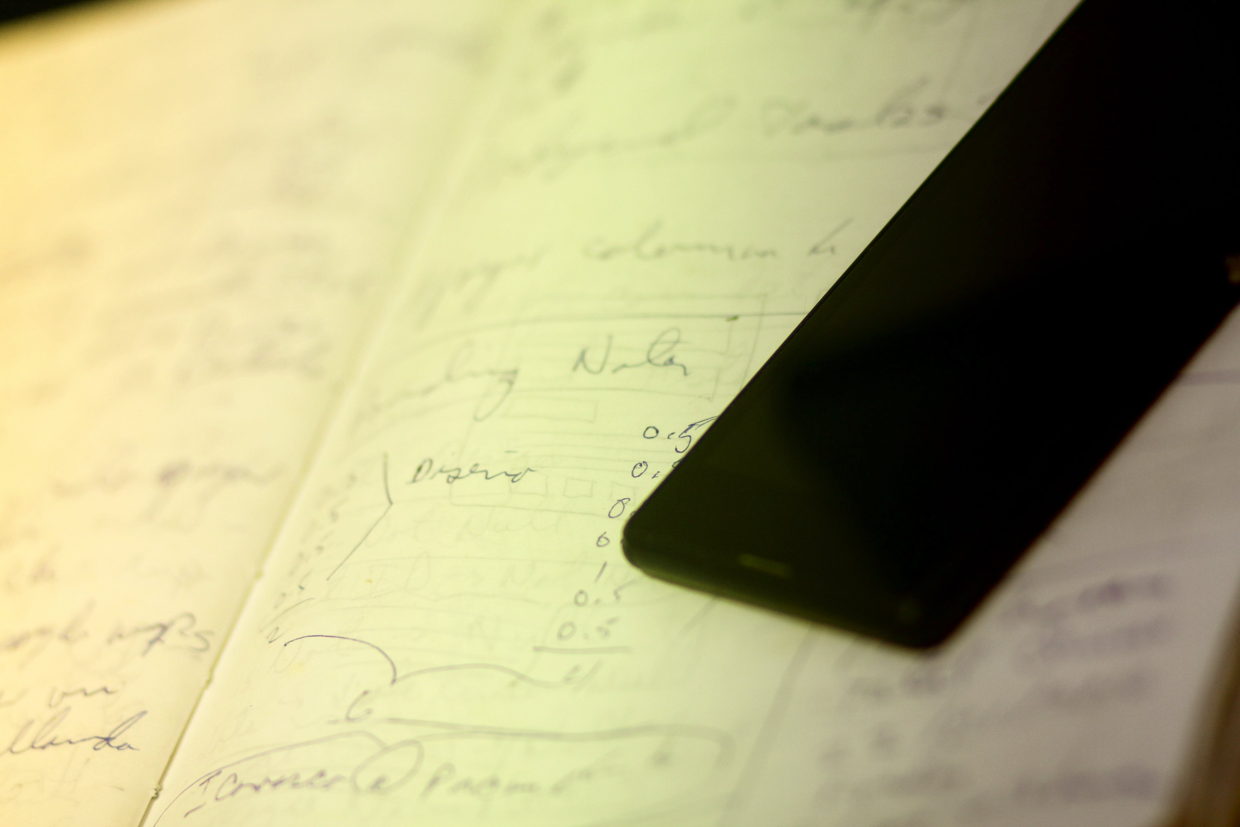 Free stock photo of cell phone, design draw, draw, notebook