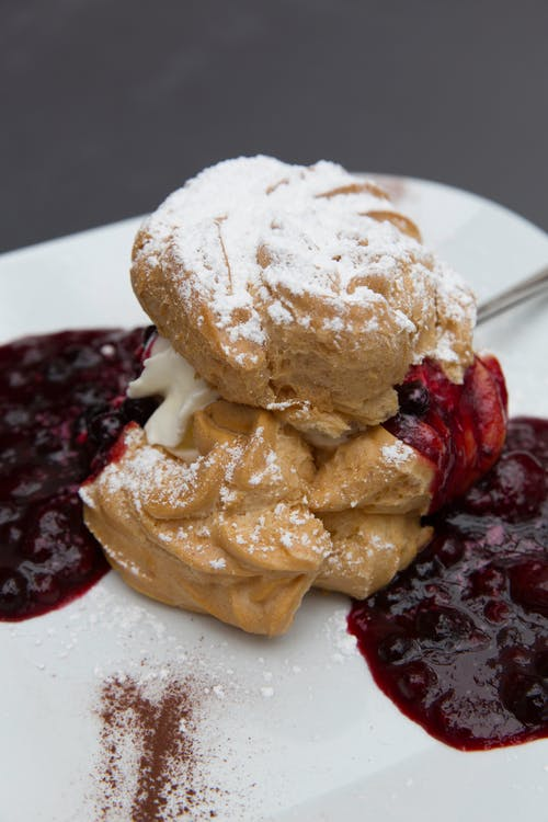 Free stock photo of berry, chocolate, choux pastry