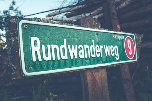 標誌, 濕, 特寫, 路標 的 免费素材照片