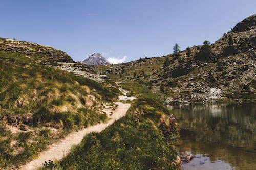 dağ, doğa, gün ışığı, keçi yolu içeren Ücretsiz stok fotoğraf