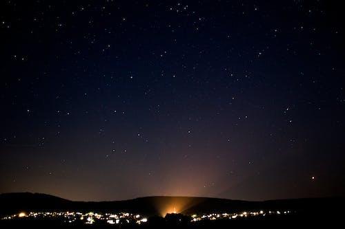 구름, 도시, 밤, 별의 무료 스톡 사진