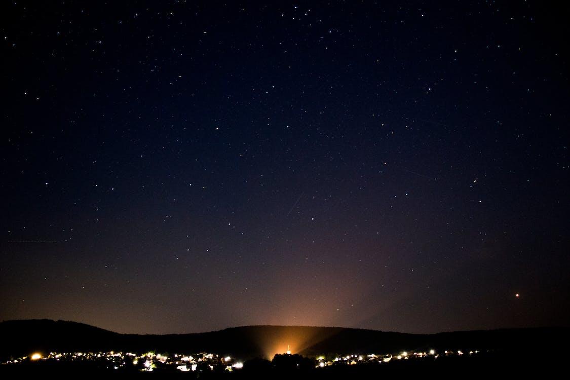 city, cloud, constellation