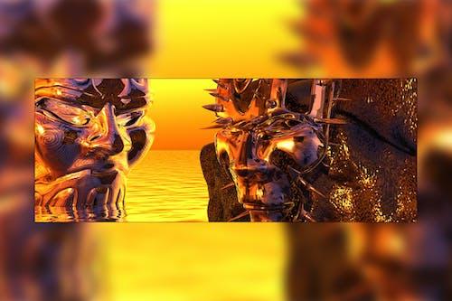Darmowe zdjęcie z galerii z 3d odpłacają się, bogowie piekła, bryce 3d, jasny