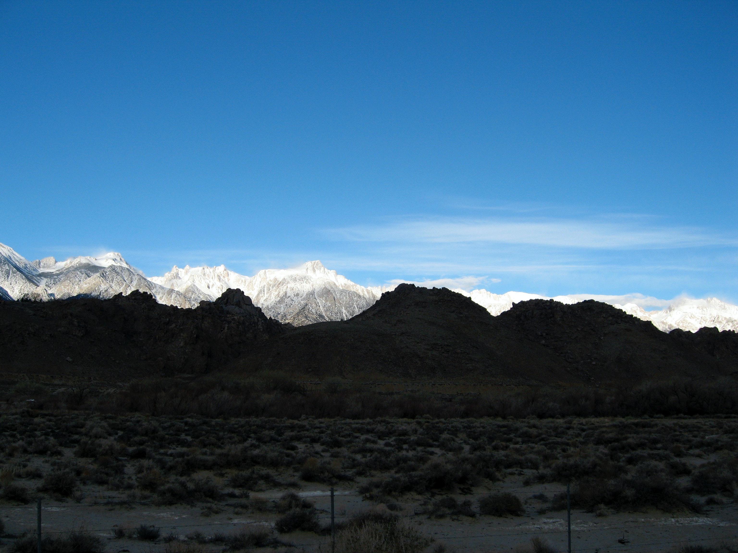 Free stock photo of desert, mountains, snow