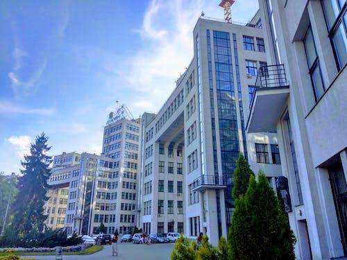 bina, inşaat, kharkov, Mavi gökyüzü içeren Ücretsiz stok fotoğraf