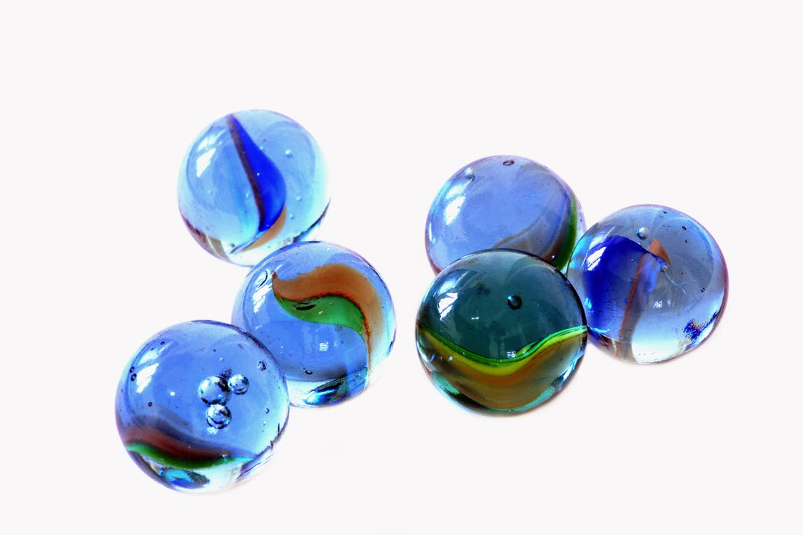 bales, blau, color