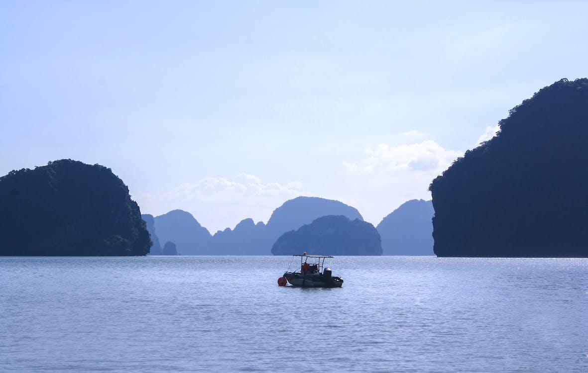 agua, barca, isla phi phi