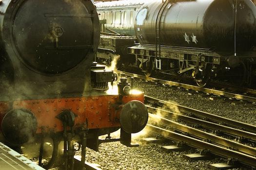Free stock photo of vintage, blur, stones, railroads
