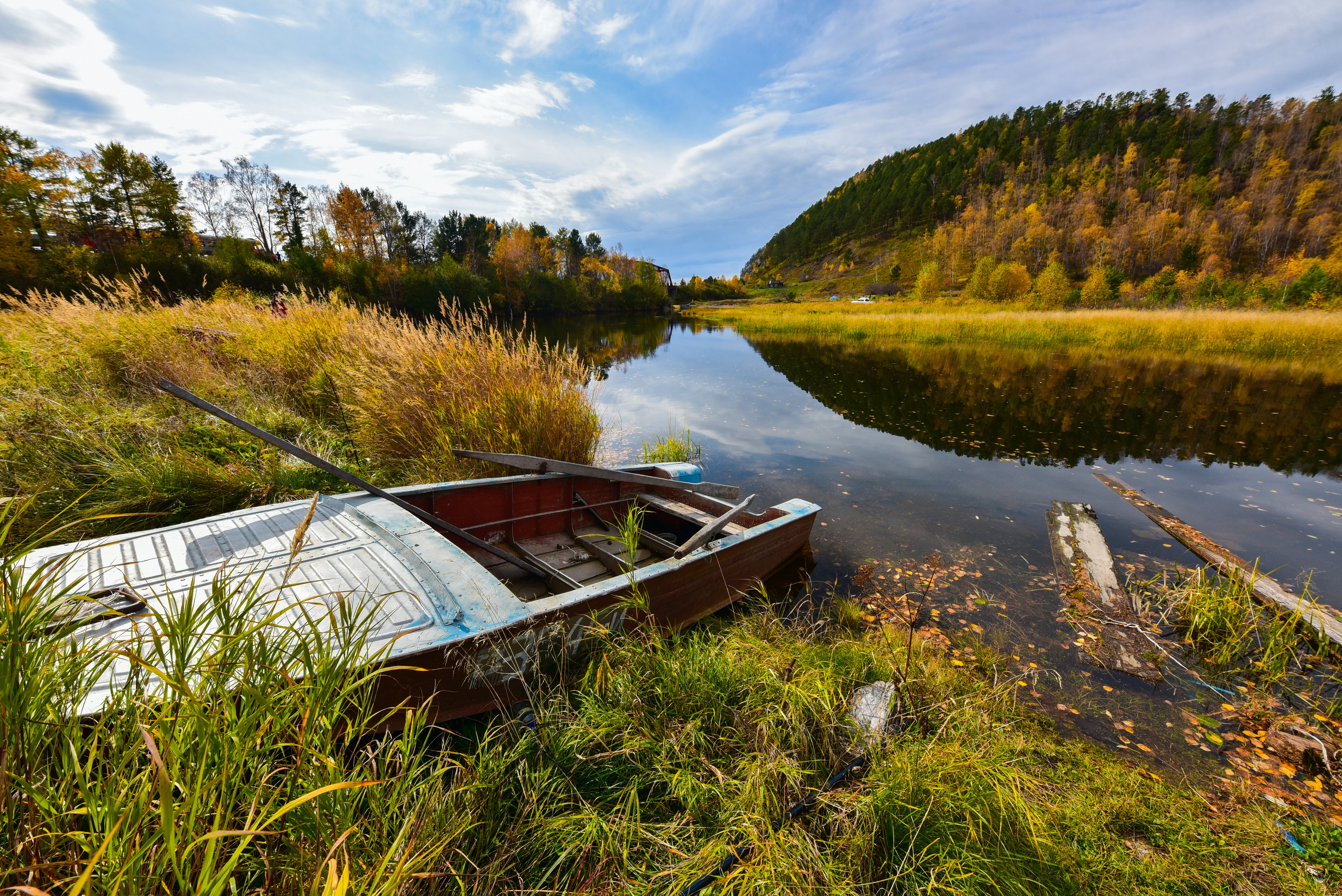 Free stock photo of boat, calm waters, clear sky, lake