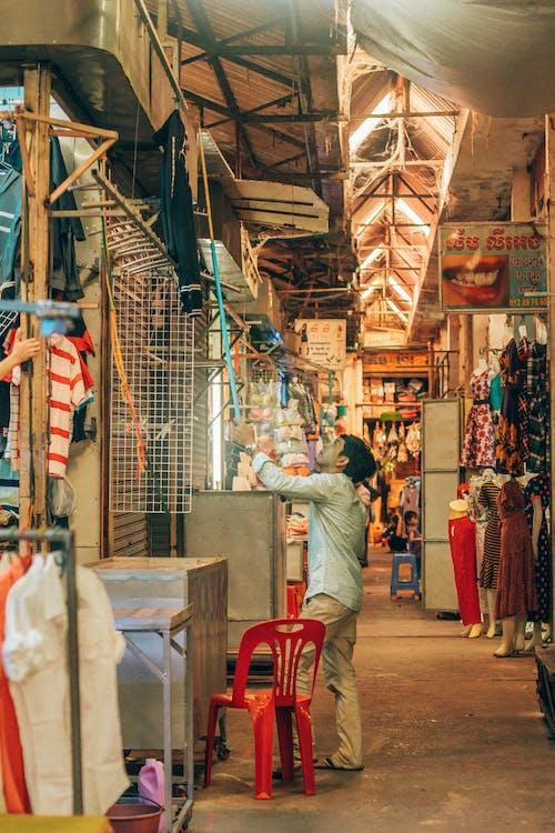 Free stock photo of asian market, cambodia, fleet market