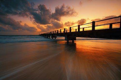 Δωρεάν στοκ φωτογραφιών με άμμος, Ανατολή ηλίου, αποβάθρα, αυγή