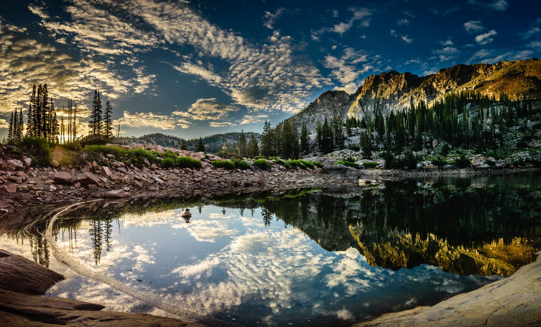 berg, daglicht, landschap