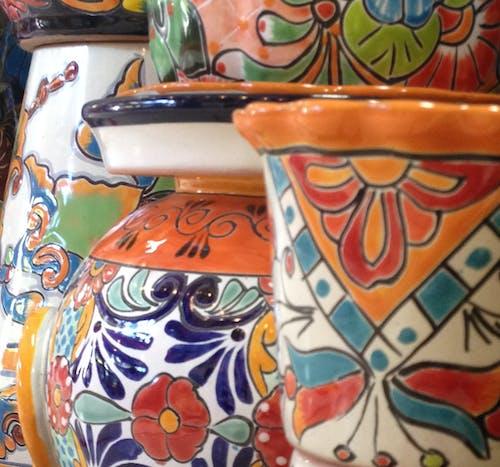 Fotobanka sbezplatnými fotkami na tému črepníky, dúha, farba, farebná keramika