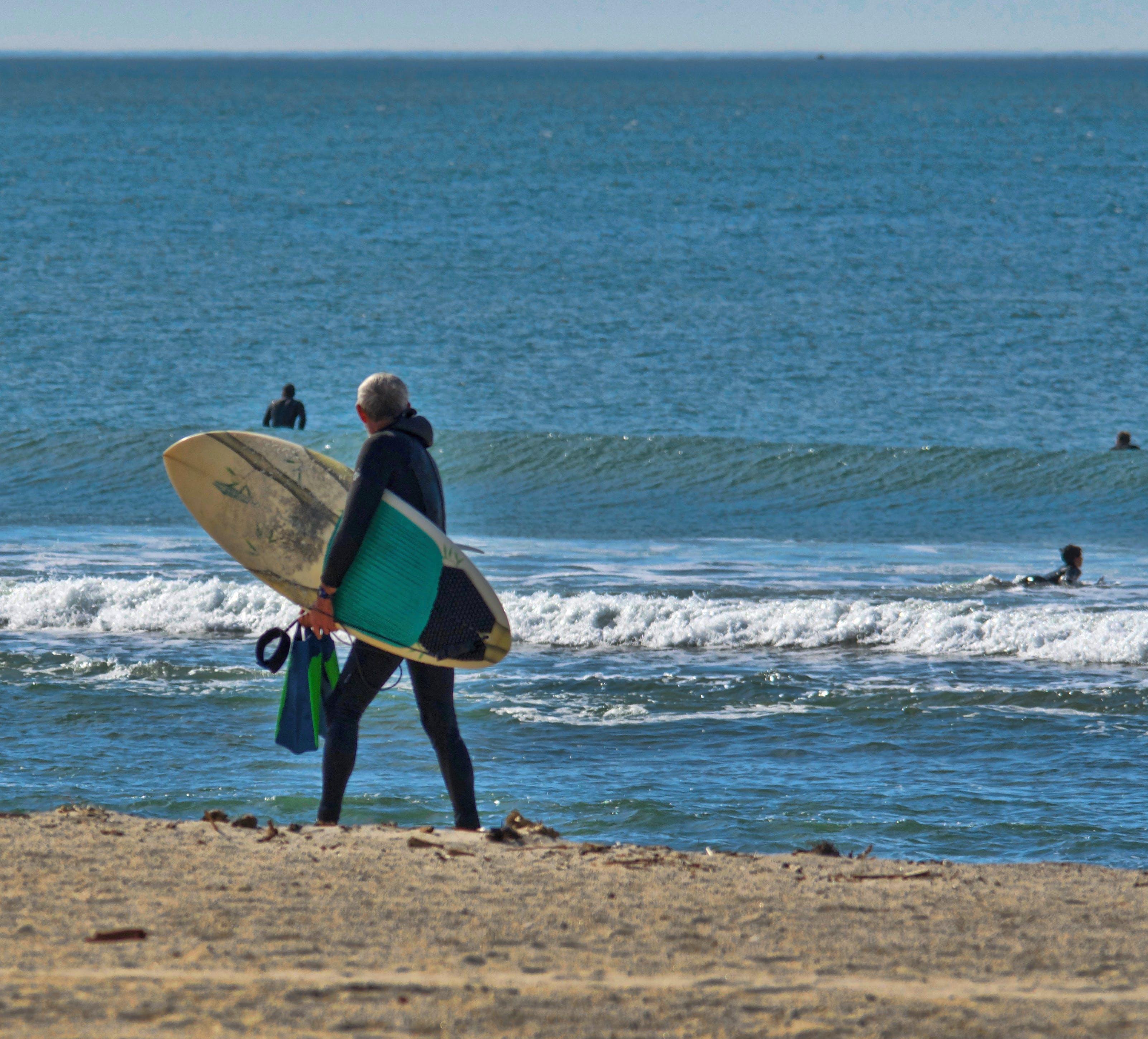 Free stock photo of beach, sand, surfer, lifeguard