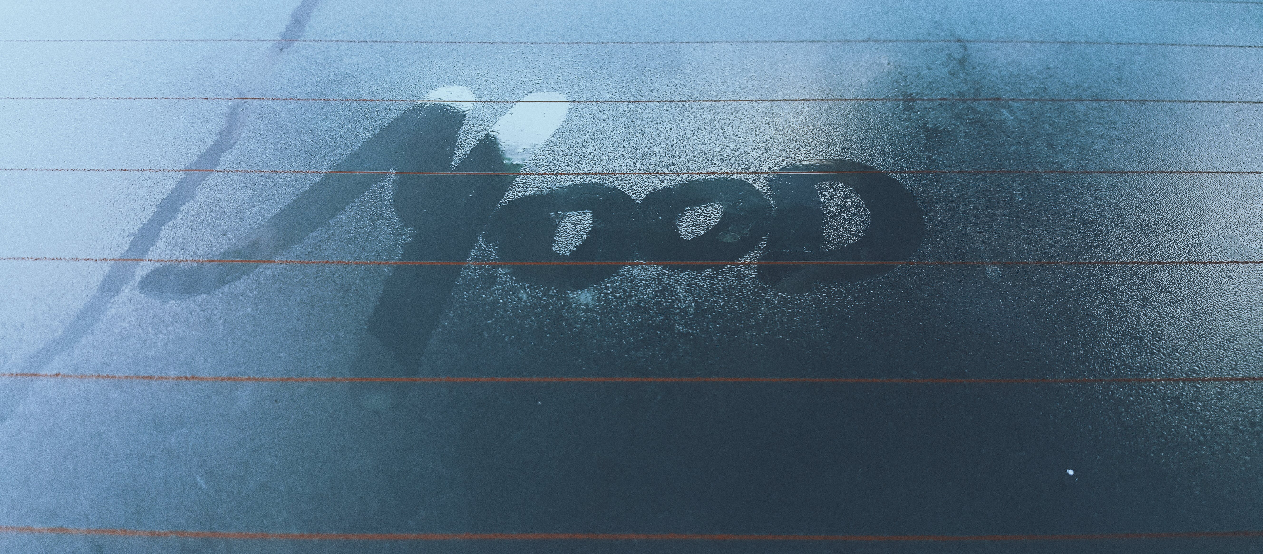 Clear Glass With Mood Steam Text