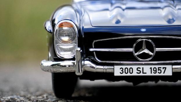 Mercedes Benz Blue Car